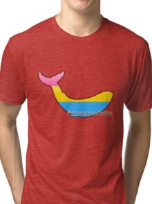 Pansexuwhale - pansexual whale Tri-blend T-Shirt