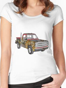 Brass Steampunk Lorry Women's Fitted Scoop T-Shirt