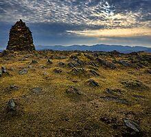 High Spy Cairn, Cumbrian Mountains by David Lewins