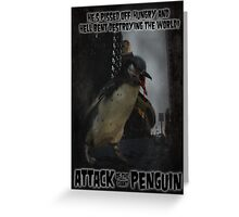 Attack of the Giant Penguin Greeting Card