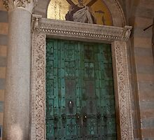 Green Door Of St. Andrew's by phil decocco