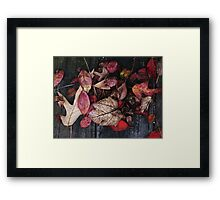 Collage Of Red Framed Print
