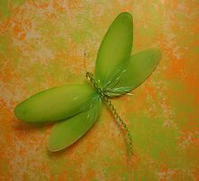 Dragonfly Decoration on the Wall by DebbieCHayes