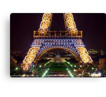 Eiffel Militaire Canvas Print
