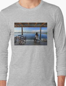 Peaceful life in the lagoon of Messolonghi Long Sleeve T-Shirt