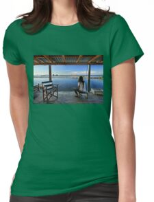 Peaceful life in the lagoon of Messolonghi Womens Fitted T-Shirt