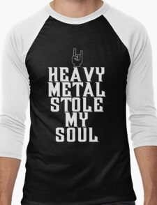 Heavy Metal Stole My Soul T Shirt Men's Baseball ¾ T-Shirt