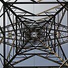 Under/Inside A Pylon by rhian mountjoy