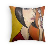 Silver Things Throw Pillow