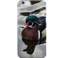 Wood Duck on Silver iPhone Case/Skin