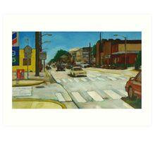 Summer street scene Art Print