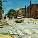 Summer street scene by Jim Angel