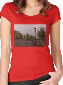 Amsterdam - the Yellow Umbrella Women's Fitted Scoop T-Shirt