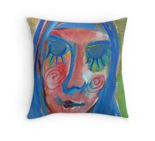 Madonna with a blush Throw Pillow