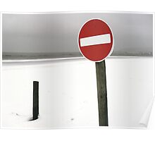 No entry red Poster