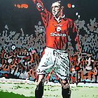 Eric Cantona by artist Debbie Boyle db artstudiodbartstudio by Deborah Boyle