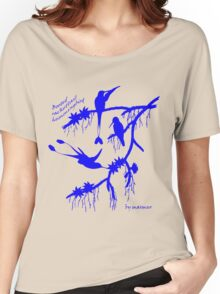 Blue booted rackettail hummingbird Women's Relaxed Fit T-Shirt