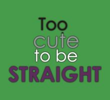 Too cute to be straight - asexual Kids Tee