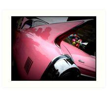 Pink Cadillac Fleetwood Art Print