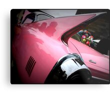 Pink Cadillac Fleetwood Metal Print
