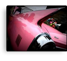 Pink Cadillac Fleetwood Canvas Print