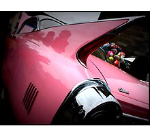 Pink Cadillac Fleetwood Photographic Print