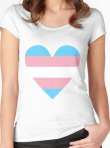 Transgender heart Women's Fitted Scoop T-Shirt