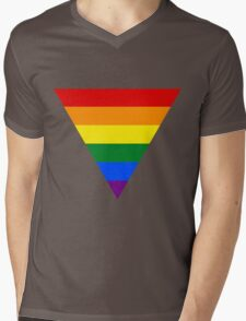 LGBT triangle flag Mens V-Neck T-Shirt