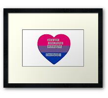 Let's get one thing straight, I'm not - bisexual heart flag Framed Print