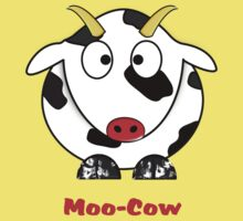 A Moo-Cow T-shirt One Piece - Short Sleeve