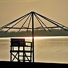 Umbrella Beach Sunset by Diane Trummer Sullivan