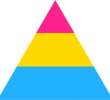 Pansexual triangle flag by Margotte