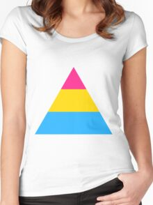 Pansexual triangle flag Women's Fitted Scoop T-Shirt