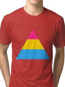 Pansexual triangle flag Tri-blend T-Shirt
