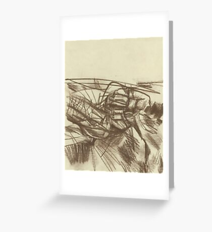 abstract empty landscape Greeting Card