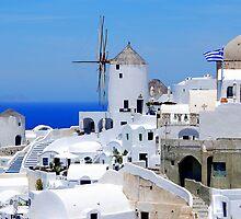 Oia's windmills,Santorini by DimitriS-Gr