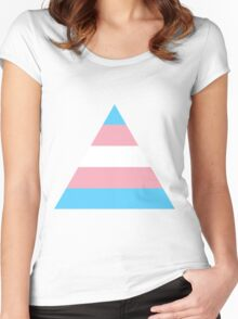 Transgender triangle flag Women's Fitted Scoop T-Shirt