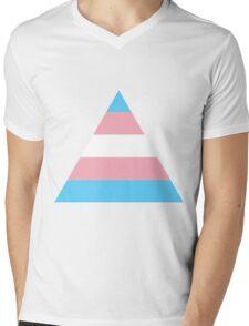 Transgender triangle flag Mens V-Neck T-Shirt