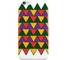 bright coloured triangles iPhone Case/Skin