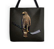 Polyhawk on Black Tote Bag