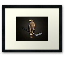 Polyhawk on Black Framed Print