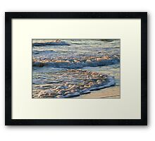 Surf at Sunrise Framed Print