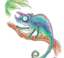 Colourful Chameleon  by Louloujane