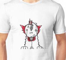Alien Robot Hand Draw Illustration Unisex T-Shirt
