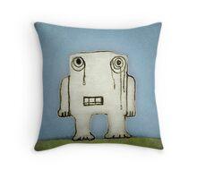 Sad Monster Baby Crying Throw Pillow