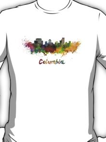 Columbia skyline in watercolor T-Shirt