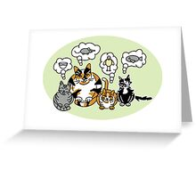 What Cats Think About Greeting Card