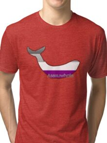 Asexuwhale - Asexual whale Tri-blend T-Shirt