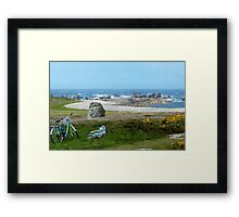Bikes in Oléron Framed Print