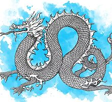 Blue Dragon by helenacooper